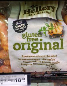 Nouvelle Zélande : saucisses sans gluten