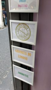 Glaces sans gluten Amalfi Italie