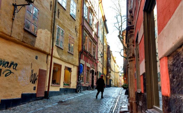 Stockholm sans gluten, voyage. Gamla Stan