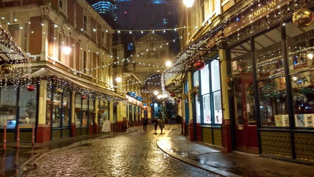 Londres pendant la fin d'année