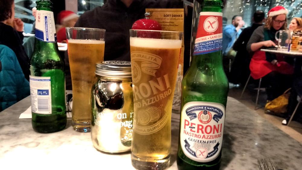 Pizza Express : bière sans gluten à Londres