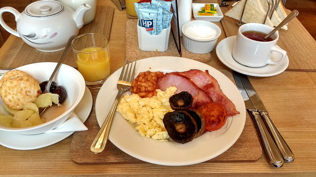 Full irish breakfast, sans gluten